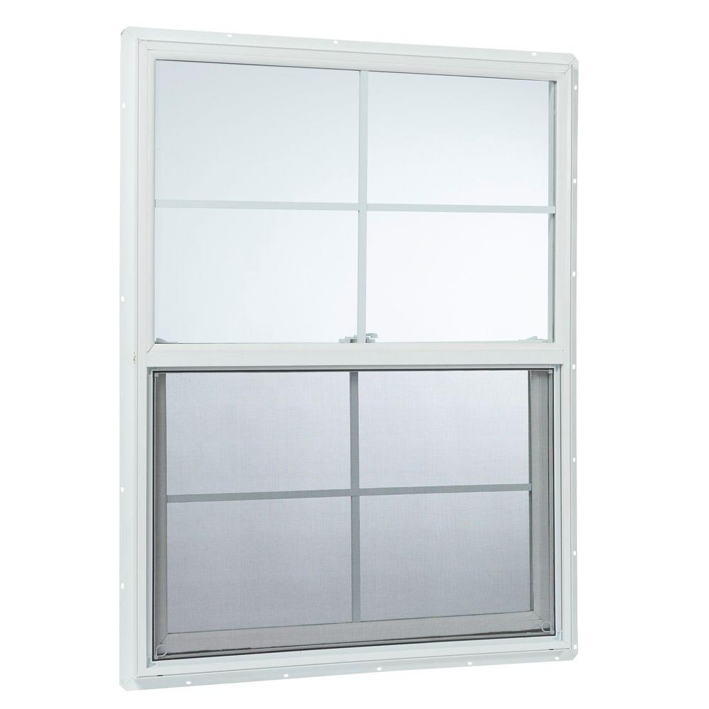 Tafco windows in x in single hung vinyl for Insulated vinyl windows