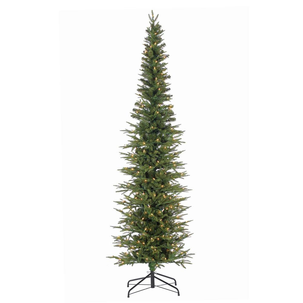 narrow artificial christmas trees 20 foot natural cut narrow lincoln pine artificial christmas tree with 300 clear lights sterling 75 ft