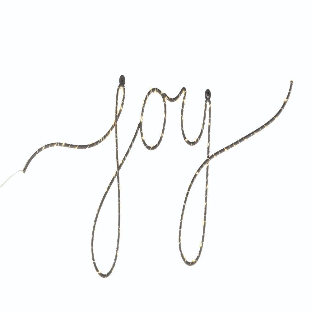 7.5 in Lighted Script Words Joy