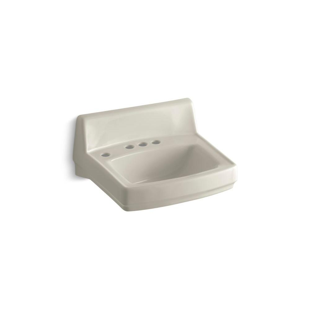 KOHLER Greenwich Wall-Mount Bathroom Sink in Sandbar-DISCONTINUED