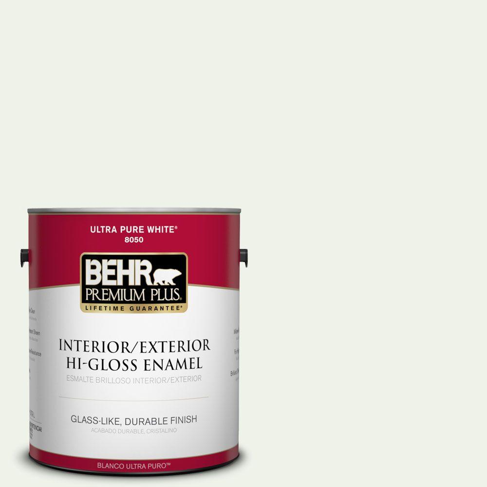 BEHR Premium Plus 1-gal. #M370-1 Fresh Dew Hi-Gloss Enamel Interior/Exterior Paint
