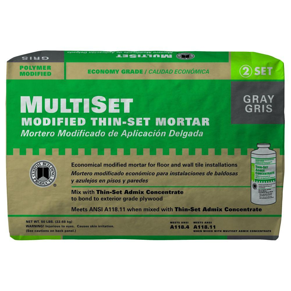 Custom Building Products MultiSet Gray 50 lb. Modified Thinset Mortar