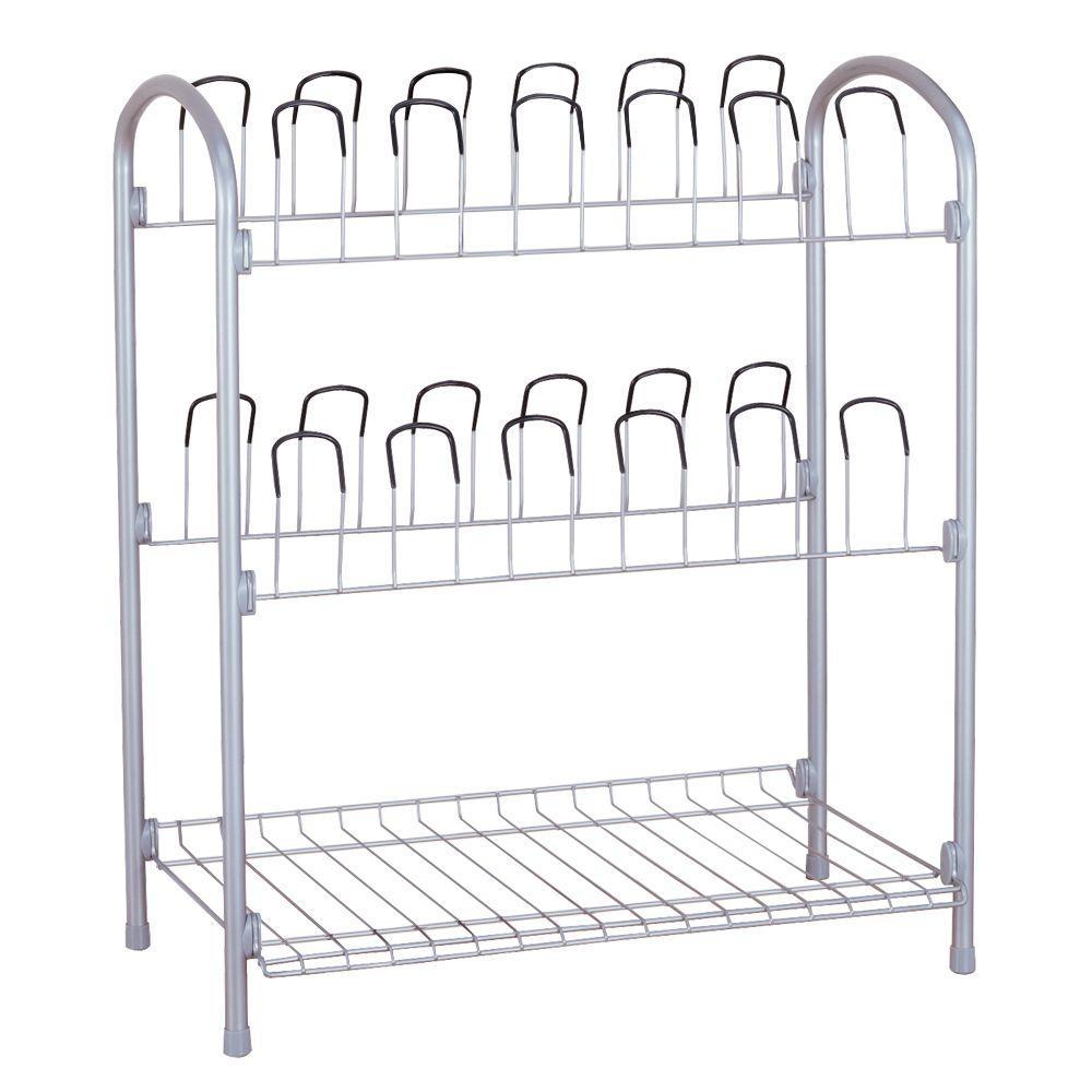 12-Pair Storage Shoe Rack