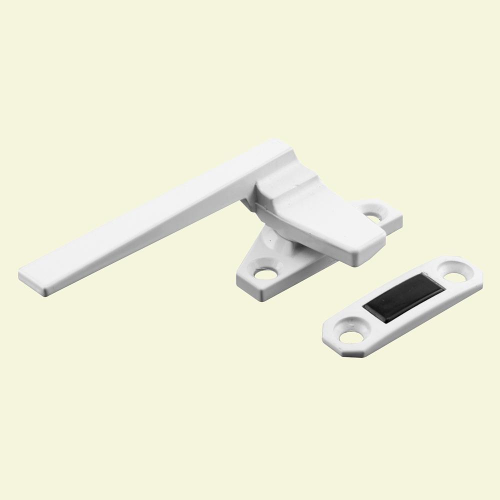 Prime-Line Left-Handed, White, Casement Locking Handle with Offset Base