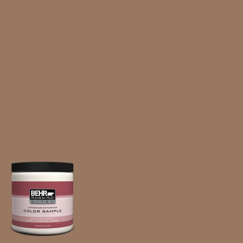 BEHR Premium Plus Ultra 8 oz. #ECC-40-3 Seasoned Acorn Interior/Exterior Paint Sample