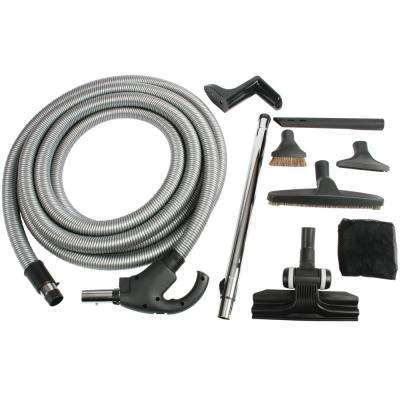 Low Voltage Central Vacuum Attachment Kit with Switch Control 50 ft. Hose