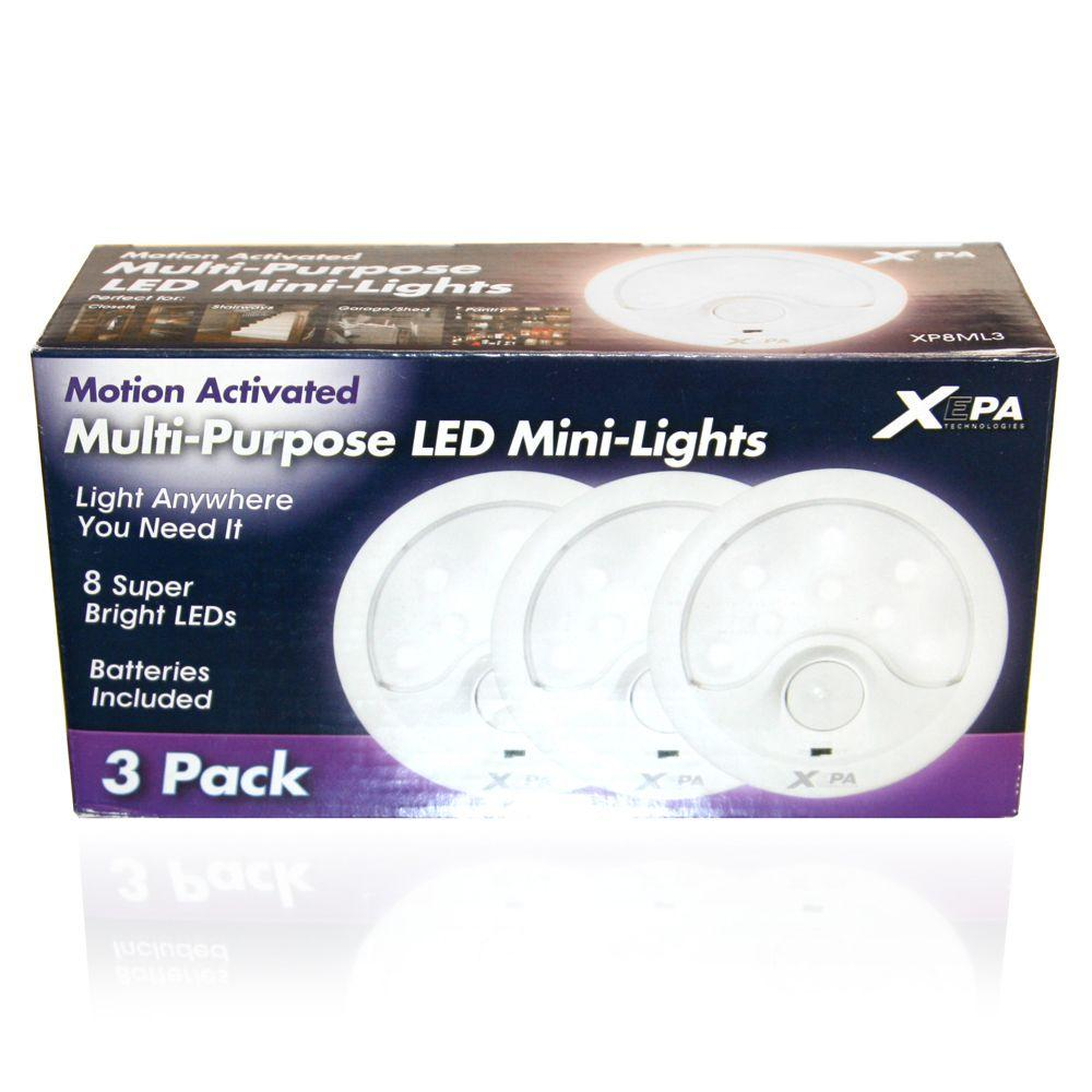 XEPA LED Lights with Motion Detection, 3-Pack-DISCONTINUED