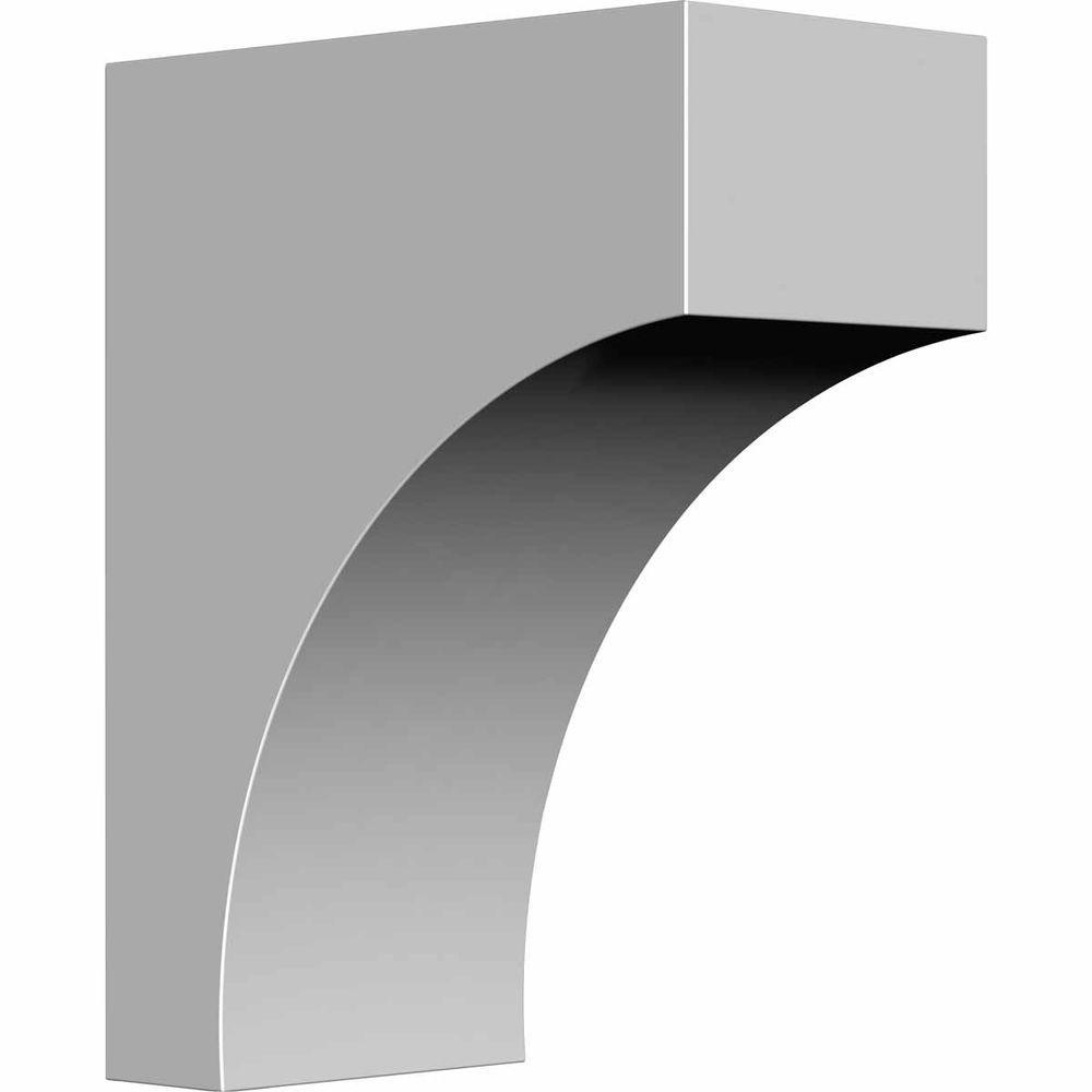 Ekena Millwork 3 in. x 5-1/2 in. x 7-1/4 in. Primed Polyurethane Stockport Bracket