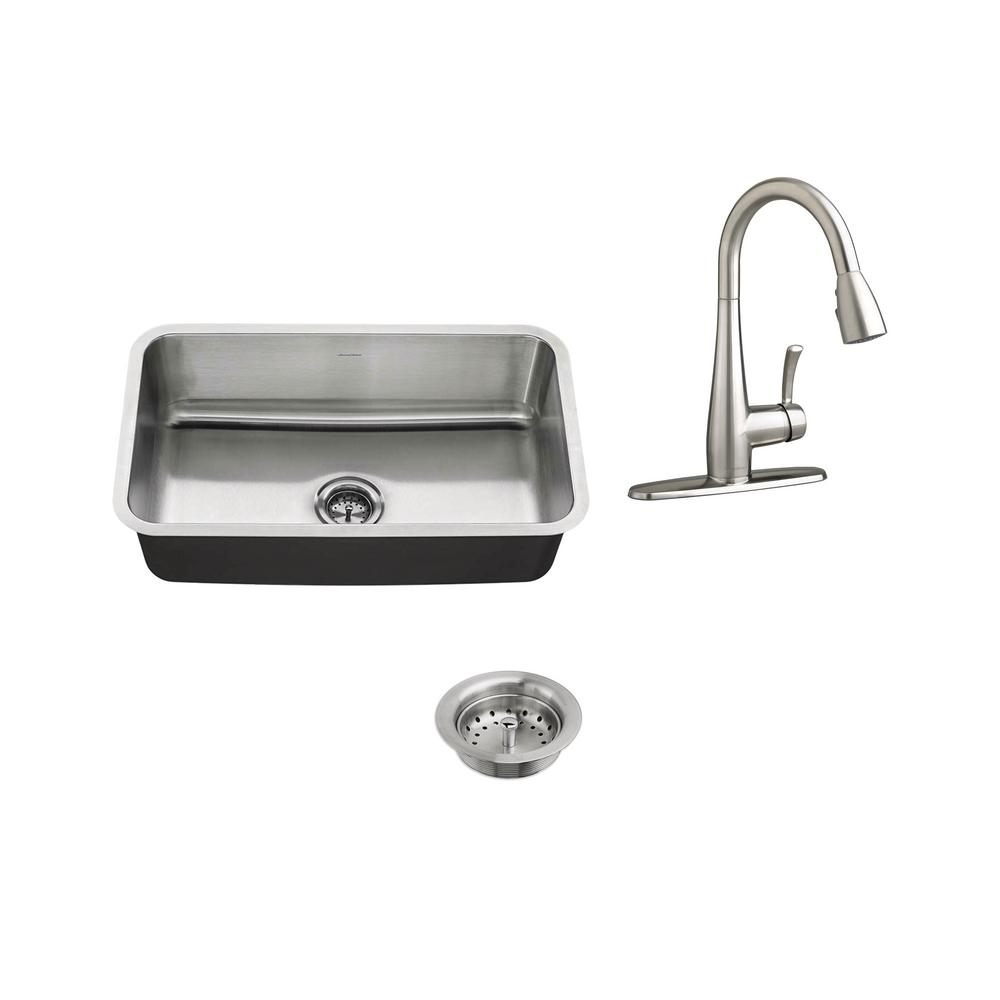 American Standard All-in-One Undermount Stainless Steel 30 in ...