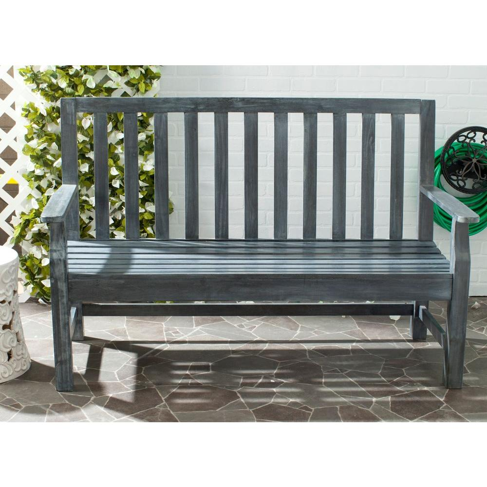 Indaka Ash Grey Acacia Patio Bench