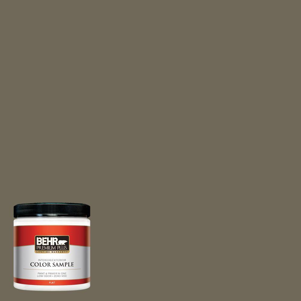 BEHR Premium Plus 8 oz. #770D-6 Sandwashed Driftwood Interior/Exterior Paint Sample