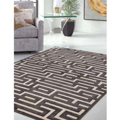 Napa Maze Charcoal 5 ft. 3 in. x 7 ft. 6 in. Area Rug