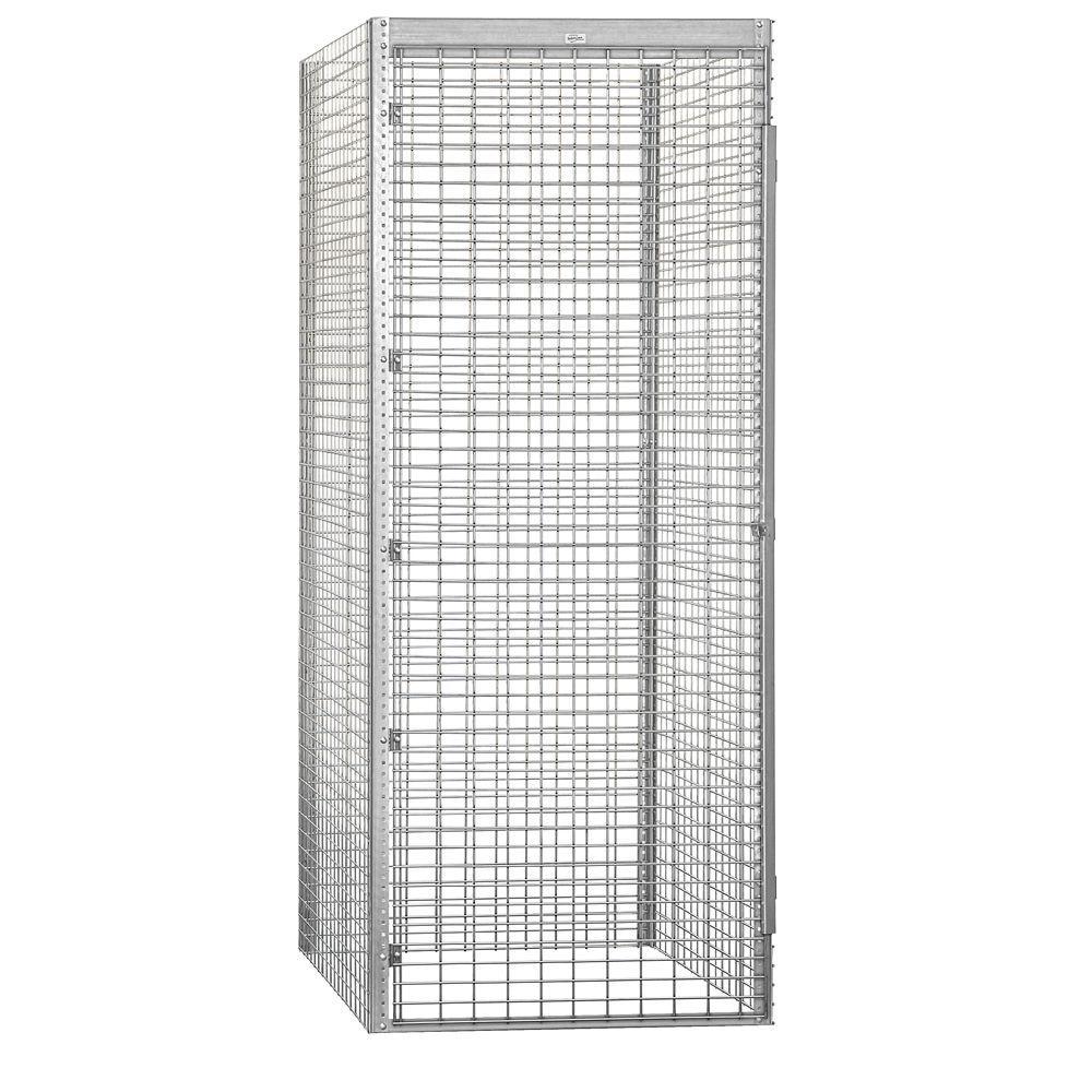 8100 Series 36 in. W x 90 in. H x 48 in. D 1-Tier Bulk Storage Locker Starter in Aluminum
