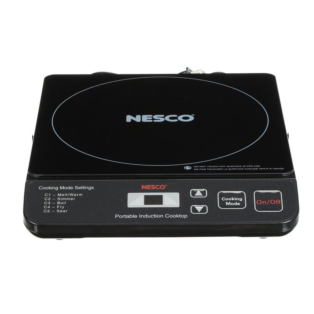 Nesco 10 in. Portable Induction Cooktop in Black with 1 Element