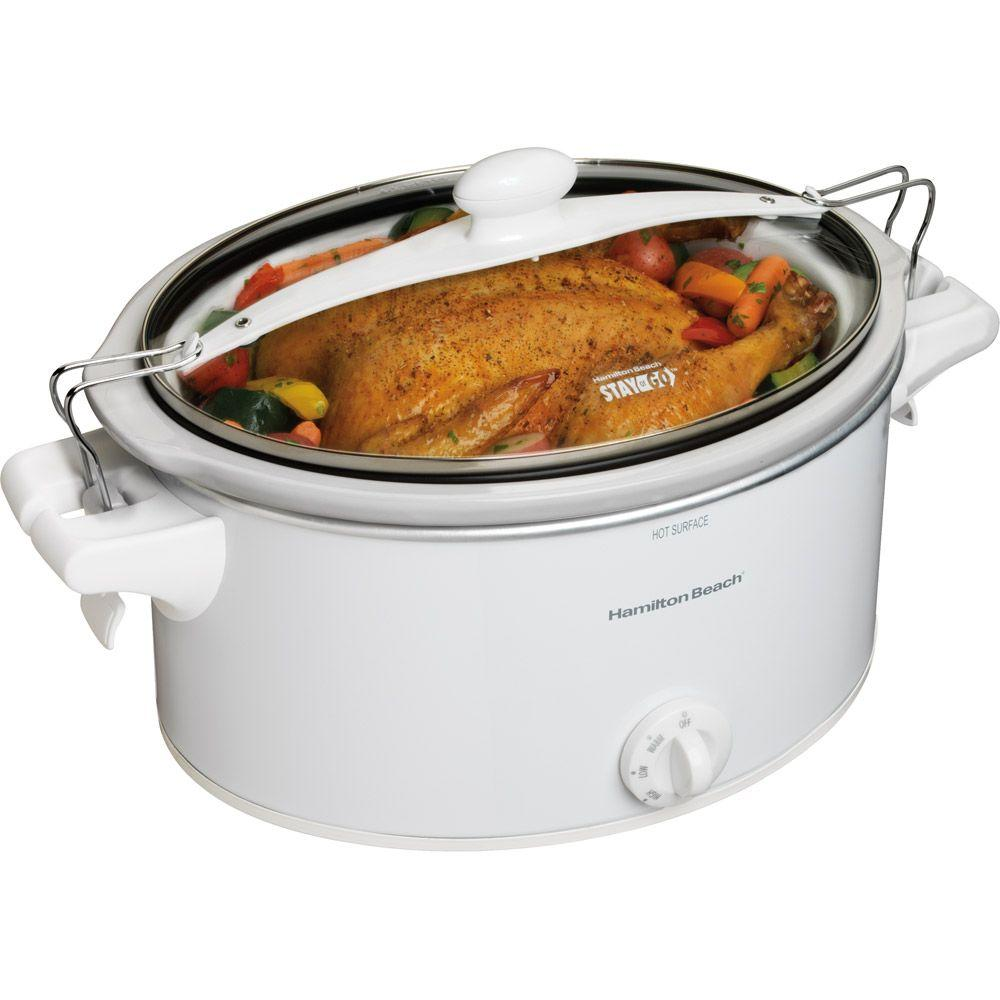 Hamilton Beach Stay or Go 6 qt. Slow Cooker with Clip-Tight Lid