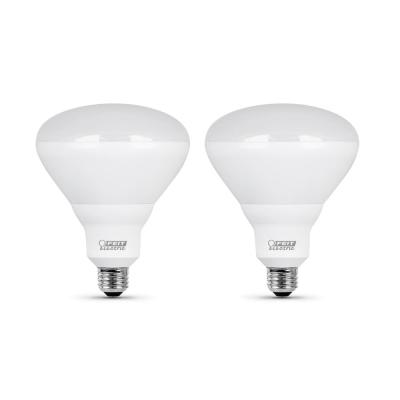 65-Watt Equivalent BR40 Dimmable CEC Title 24 Compliant LED Energy Star 90+ CRI Flood Light Bulb, Soft White (2-Pack)