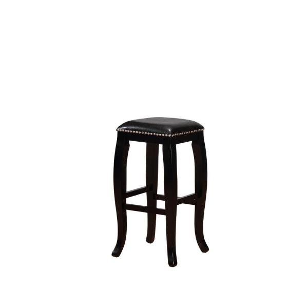 Linon Home Decor Marcus 30 in. Black Square Top Bar Stool