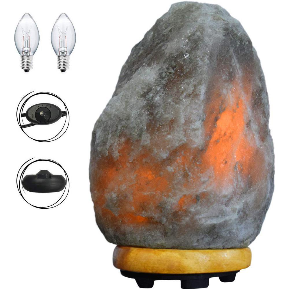 7.5 in. Unique Grey Salt Lamp
