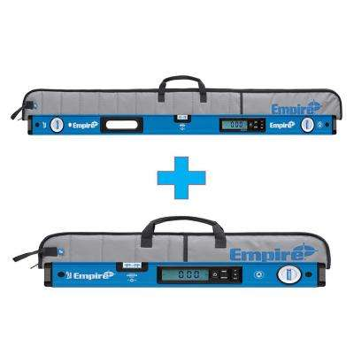 48 in. True Blue Magnetic Digital Box Level with Case with Free 24 in. True Blue Magnetic Digital Box Level with Case