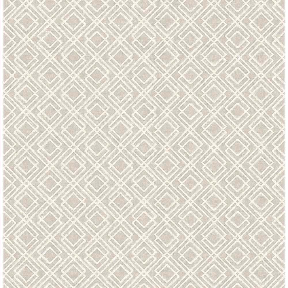 Advantage Puck Light Brown Geometric Wallpaper Sample 2836-22022SAM