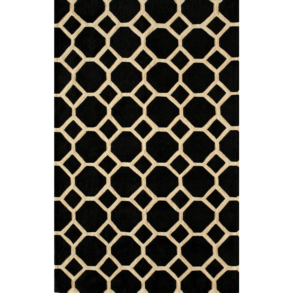 Bliss Black 8 ft. x 10 ft. Indoor Area Rug
