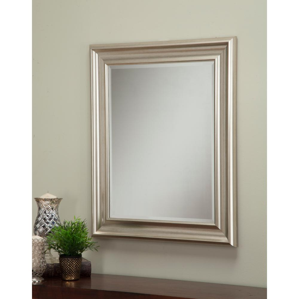 Sandberg Furniture Champagne Silver Decorative Wall Mirror ... on Wall Mirrors Decorative id=68038