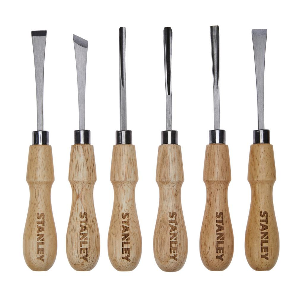 stanley wood carving set (6-piece)