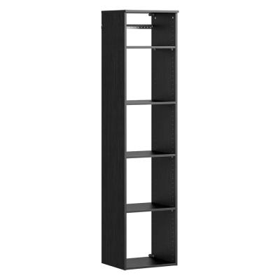 Style+ 17 in. W Noir Hanging Wood Closet Tower
