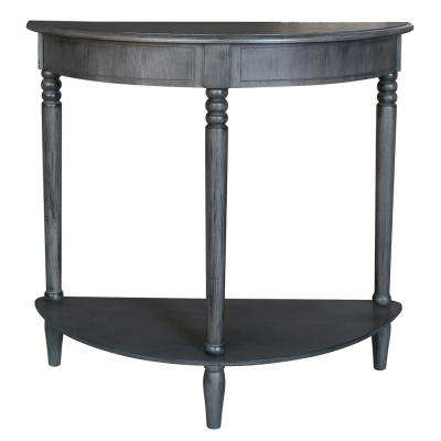 31.5 in. Gray Wood Console Table