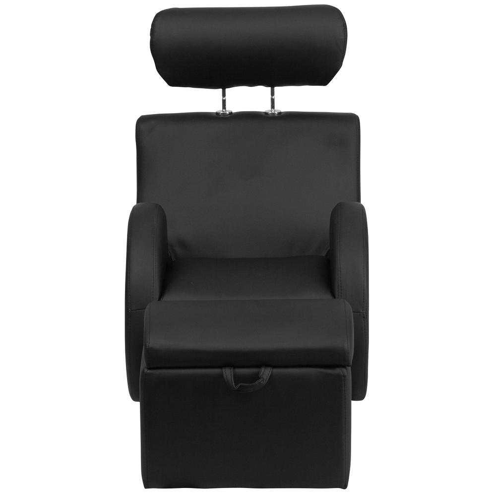 Flash Furniture Hercules Series Black Vinyl Rocking Chair With Storage Ottoman Ld2025bkvyl The