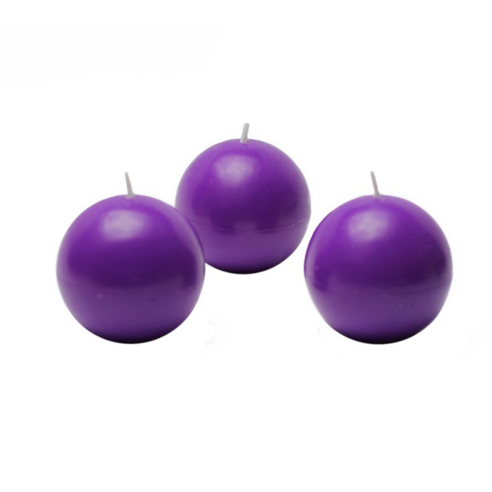 Zest Candle 2 in. Purple Ball Candles (12-Box)