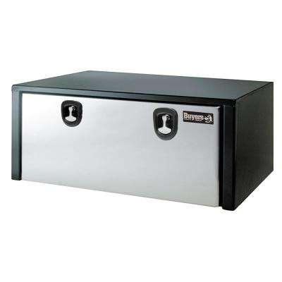 Black Steel Underbody Truck Box w/ Stainless Steel Door, 18 in. x 18 in. x 48 in.