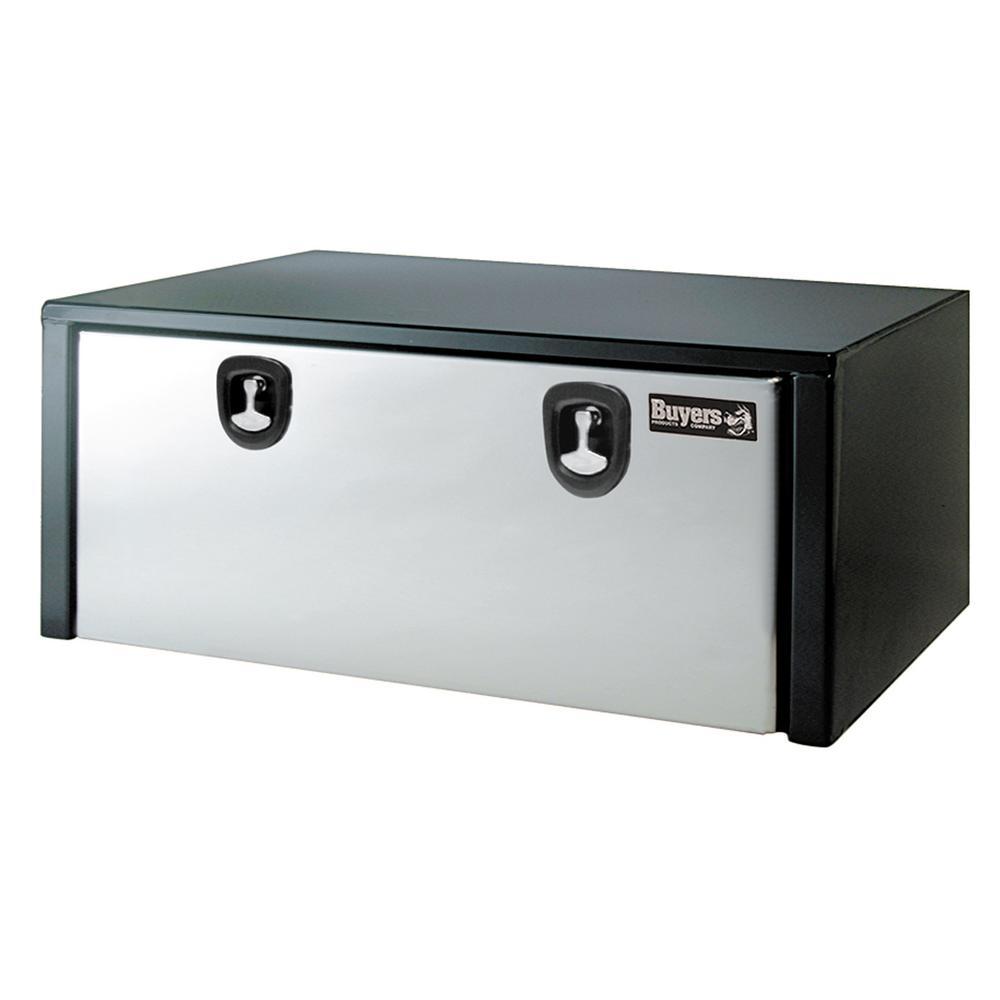 Black Steel Underbody Truck Box with Stainless Steel Door, 18 in. x 18 in. x 60 in.