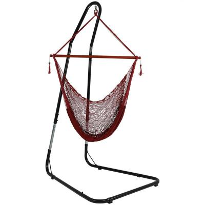 Cabo 6 ft. L X-Large Rope Hammock Chair with Stand in Red
