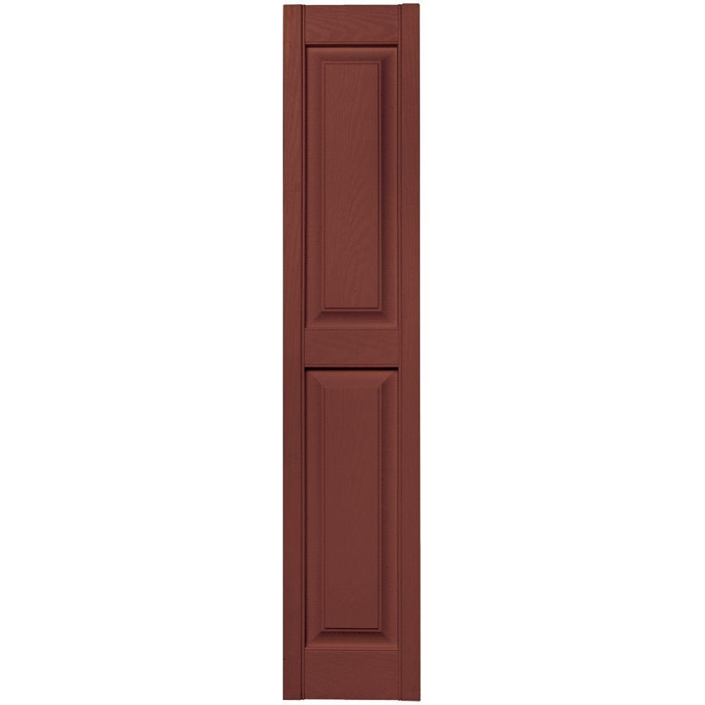Exterior Shutters: Builders Edge 12 In. X 59 In. Raised Panel Vinyl Exterior