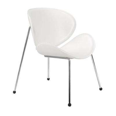 White Match Leatherette Chair (Set of 2)