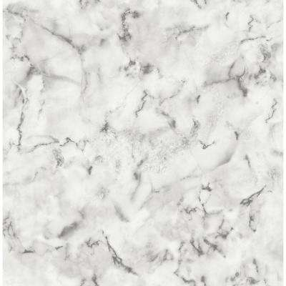 56.4 sq. ft. Notting Hill Light Grey Marble Wallpaper
