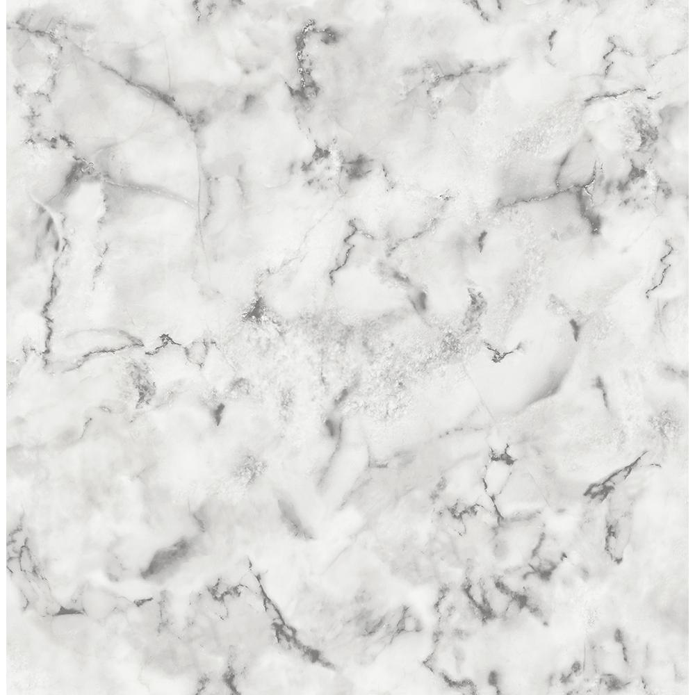 Brewster 8 in. x 10 in. Notting Hill Light Grey Marble ...