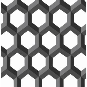 A Street Hex Black Geometric Wallpaper 2716 23841 The Home