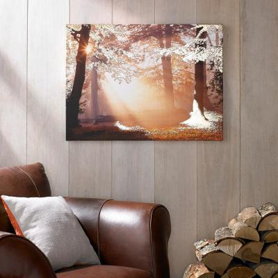 """31 in. x 24 in. """"Metallic Forest"""" by Graham and Brown Printed Canvas Wall Art"""