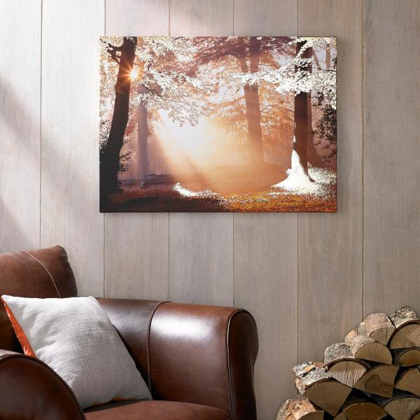 31 in. x 24 in. ''Metallic Forest'' by Graham and Brown Printed Canvas Wall Art