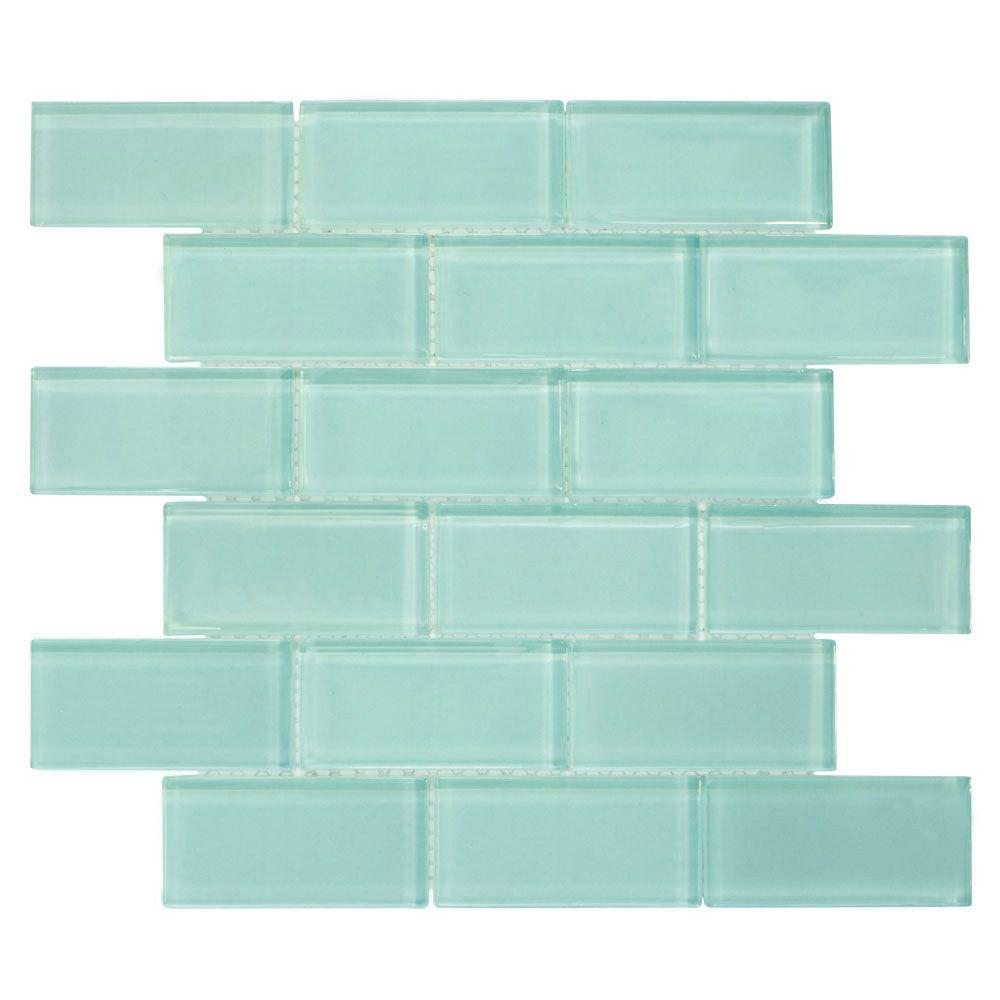 Blue mosaic tile tile the home depot tiffany may 11 34 in x 11 34 in dailygadgetfo Image collections