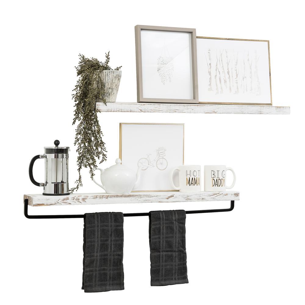 Decorative Wall Shelf And Towel Bar