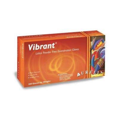 Vibrant Small 5.5 mil White Latex Chlorinated Fully Textured Powder-Free Exam Gloves (100-Count, Case of 10)