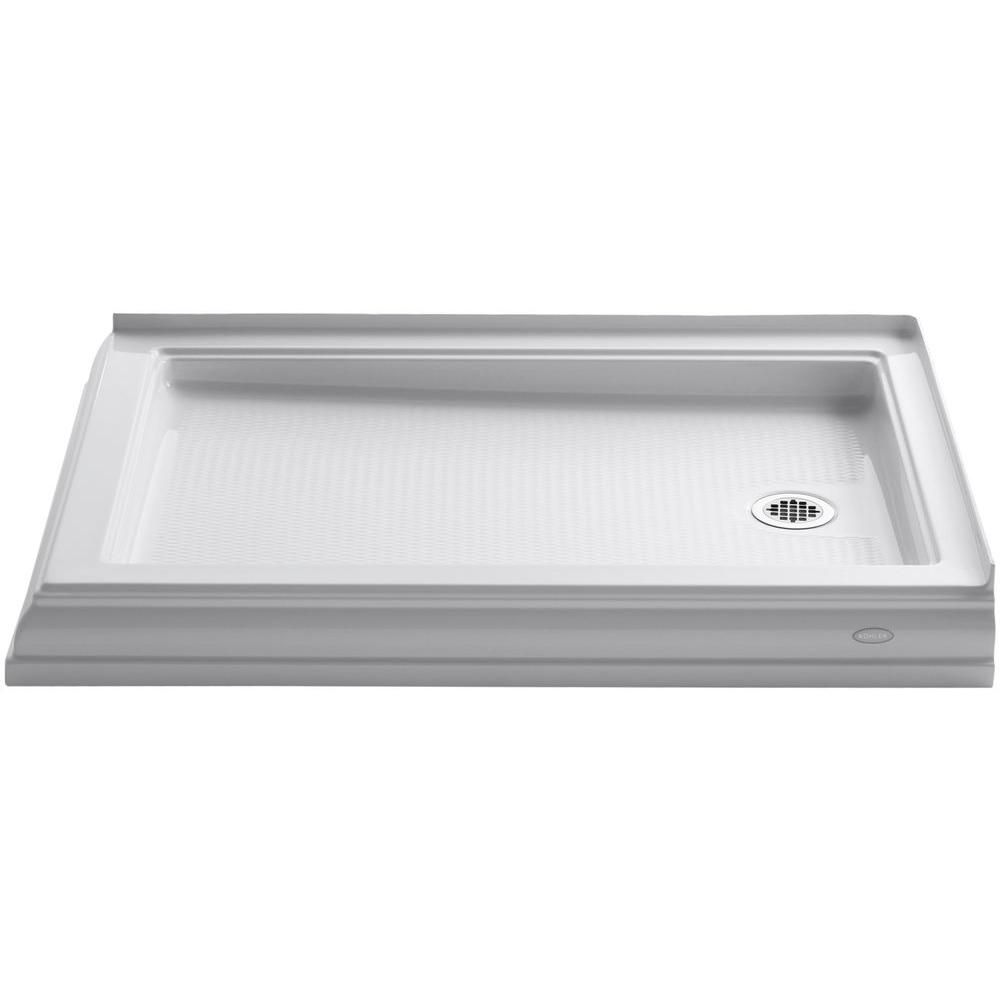 Incroyable Double Threshold Shower Base In White