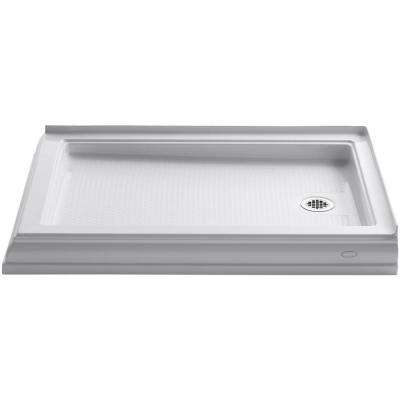 Memoirs 48 in. x 34 in. Double Threshold Shower Base in White