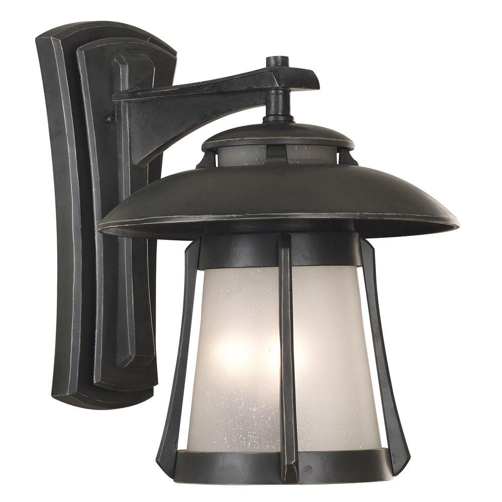 Kenroy Home Laguna 2-Light Wall Mount Outdoor Ebony Pearl Lantern-DISCONTINUED