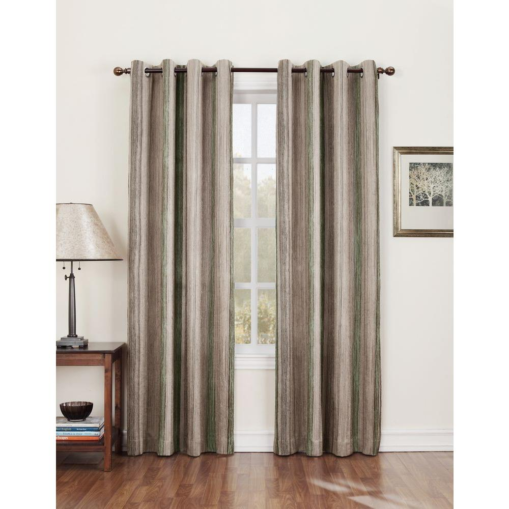 Semi-Opaque Gregory 84 in. L Crushed Room Darkening Curtain Panel in