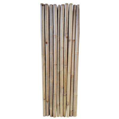 2 ft. L x 6 ft. H Extra Large Bamboo Pole Garden Fence