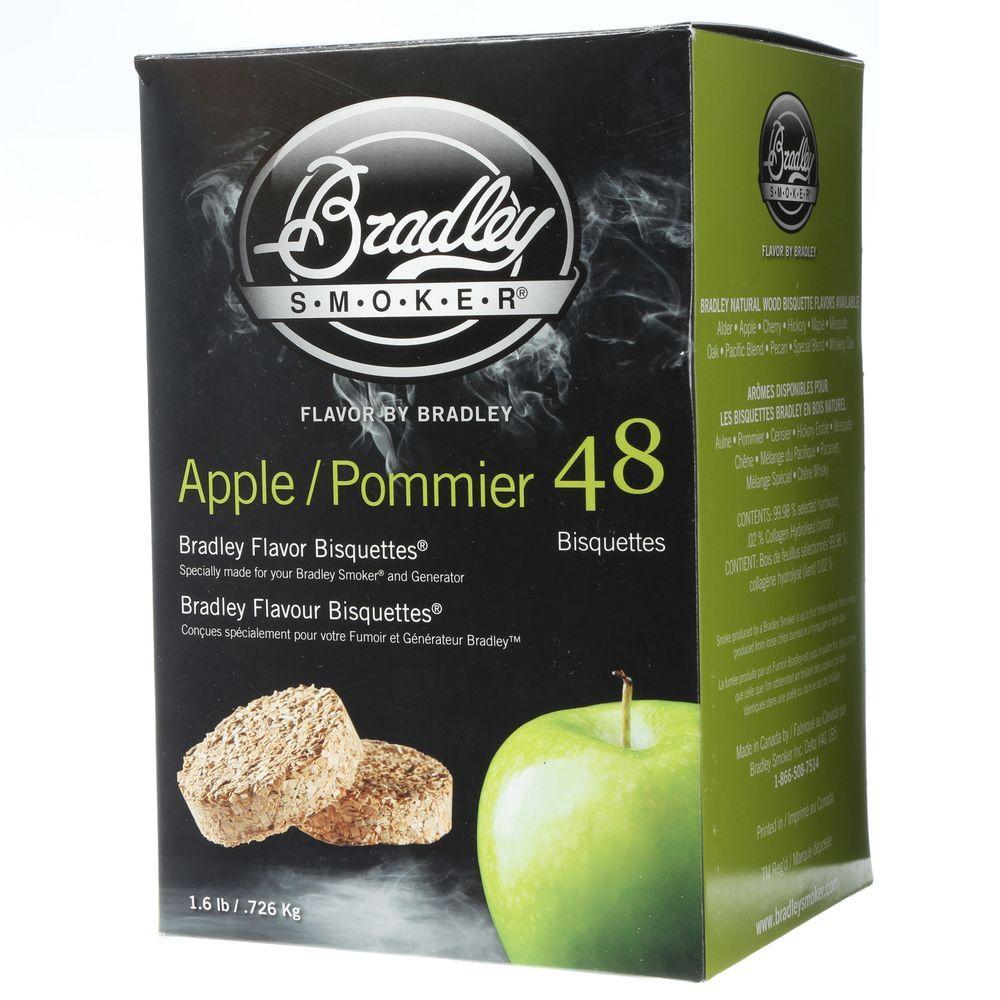 Bradley Smoker Apple Flavor Bisquettes (48-Pack)